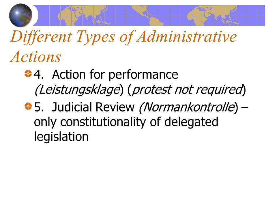 Different Types of Administrative Actions 4.