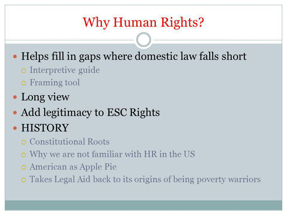 Why Human Rights.
