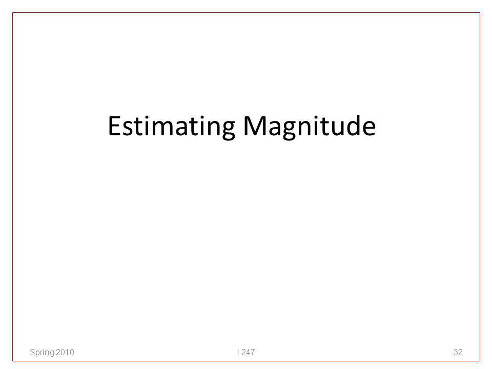 Estimating Magnitude Spring 2010I 24732
