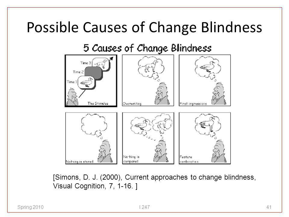Possible Causes of Change Blindness Spring 2010I 24741 [Simons, D.