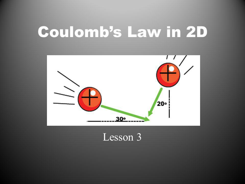 Coulombs Law in 2D Lesson 3