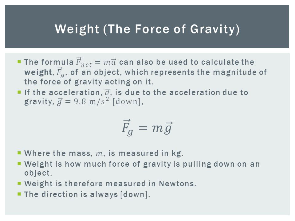Weight (The Force of Gravity)