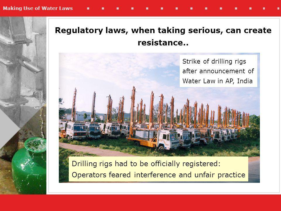 Making Use of Water Laws Regulatory laws, when taking serious, can create resistance..