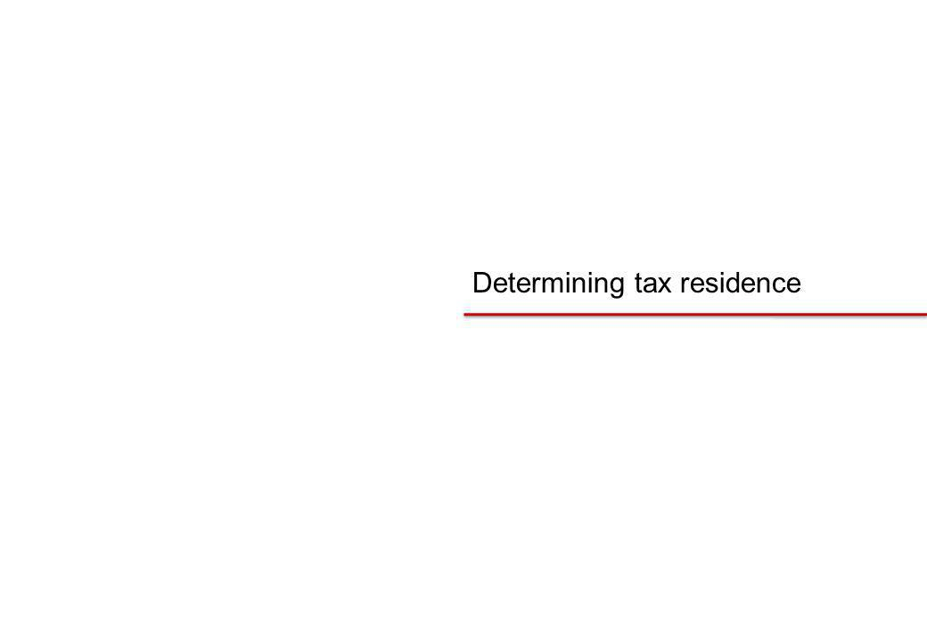 Determining tax residence