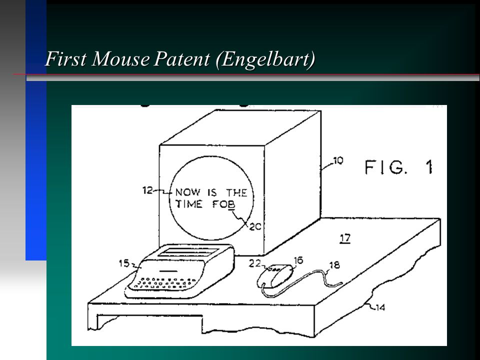 First Mouse Patent (Engelbart)
