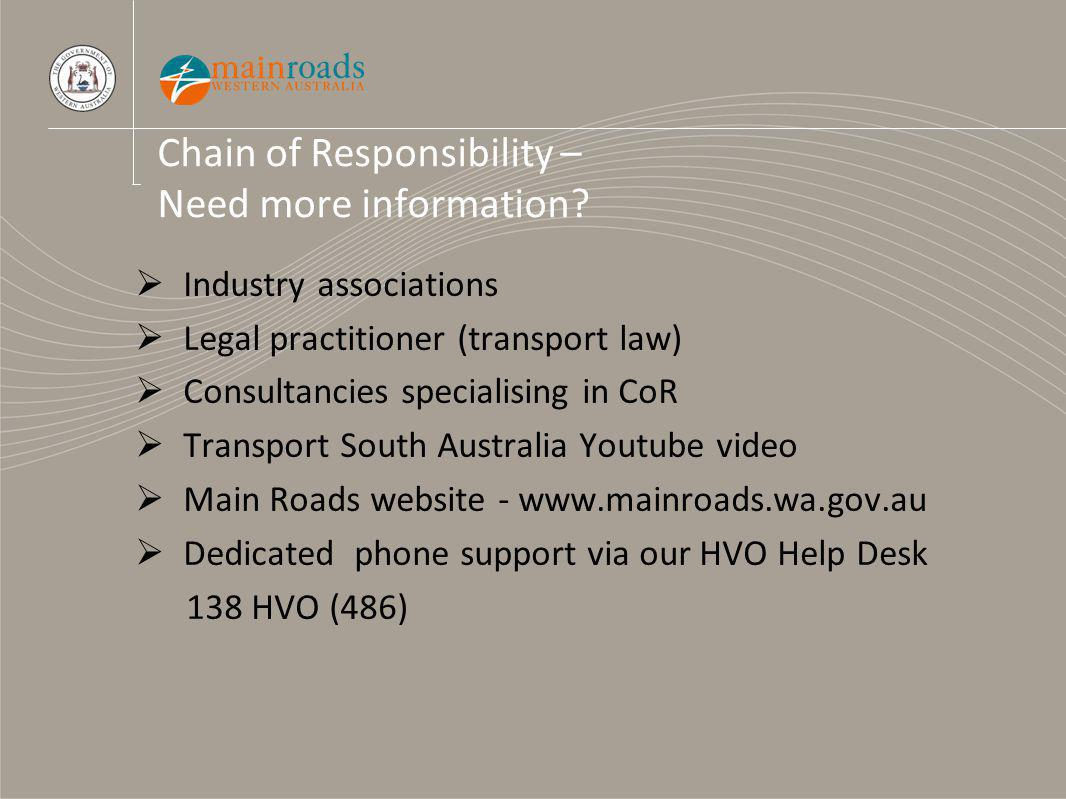 Chain of Responsibility – Need more information.