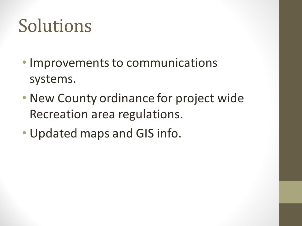 Solutions Improvements to communications systems.