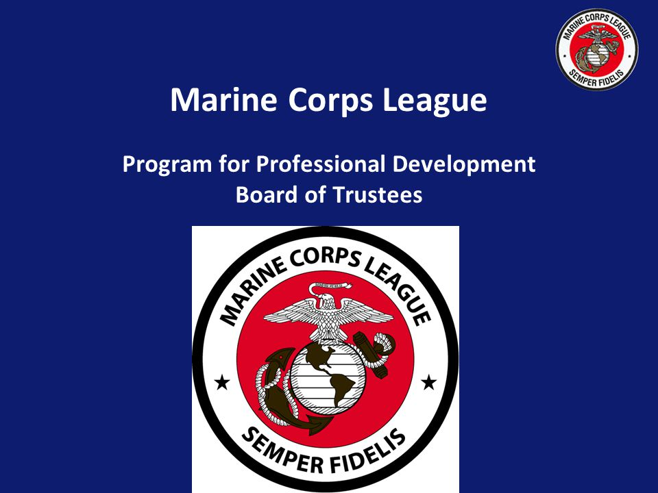 Marine Corps League Program for Professional Development Board of Trustees