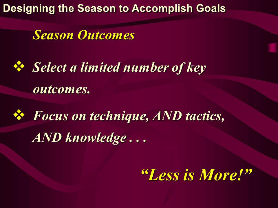 Select a limited number of key outcomes. Select a limited number of key outcomes.