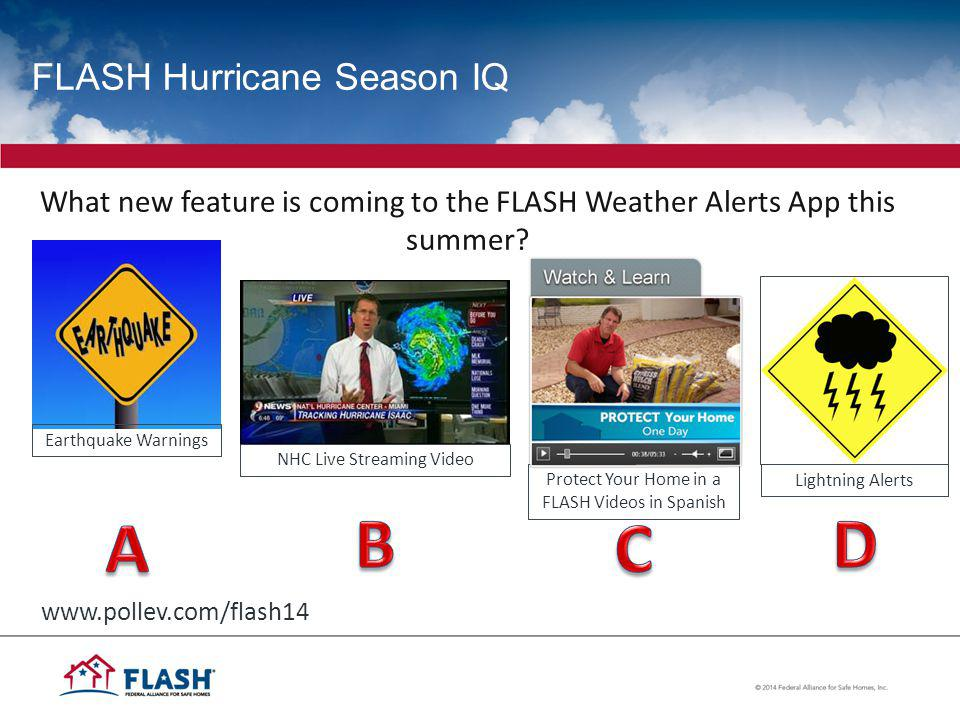 FLASH Hurricane Season IQ What new feature is coming to the FLASH Weather Alerts App this summer.