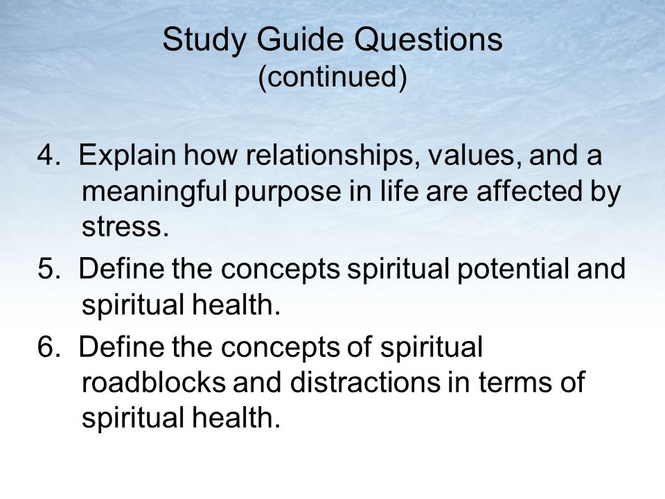 Study Guide Questions (continued) 4.