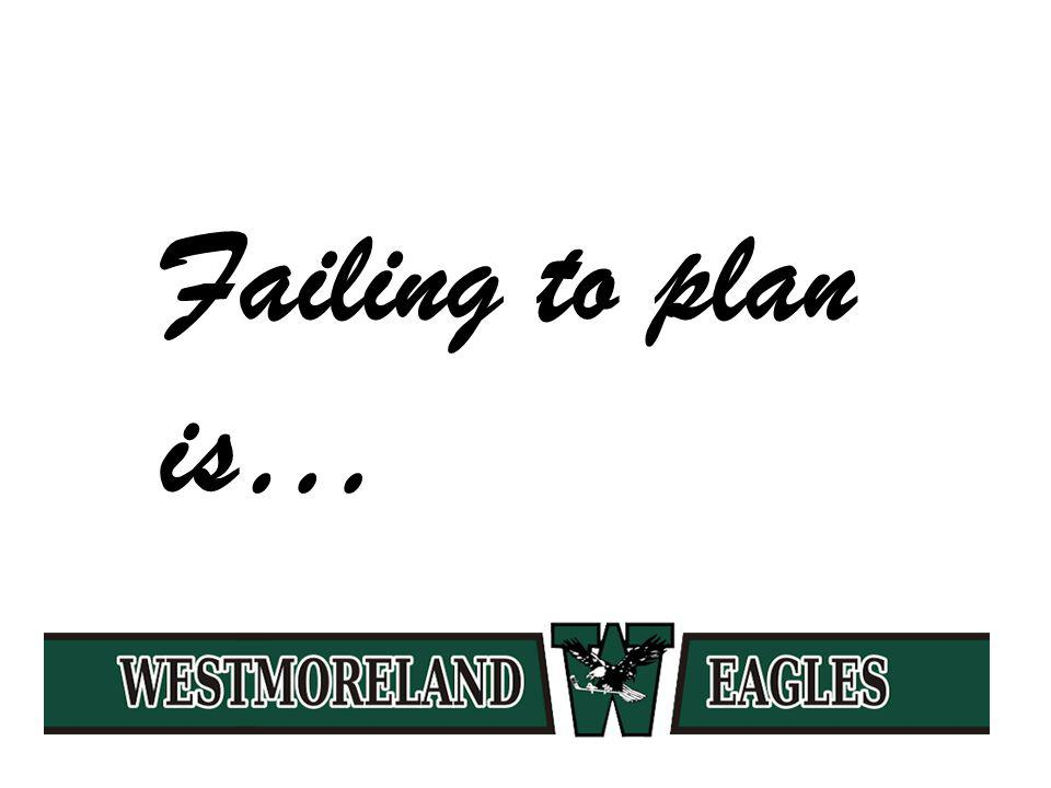 Failing to plan is…