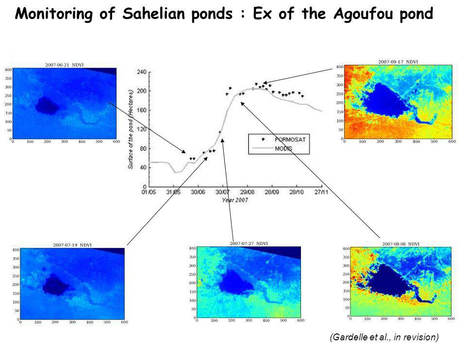 (Gardelle et al., in revision) Monitoring of Sahelian ponds : Ex of the Agoufou pond