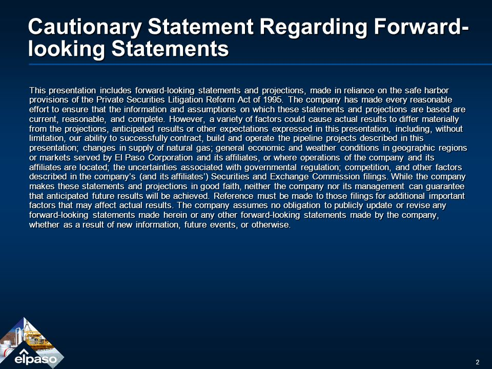 2 Cautionary Statement Regarding Forward- looking Statements This presentation includes forward-looking statements and projections, made in reliance on the safe harbor provisions of the Private Securities Litigation Reform Act of 1995.