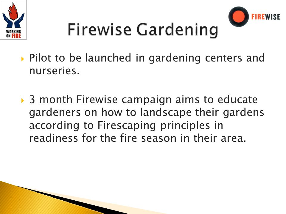 Pilot to be launched in gardening centers and nurseries.