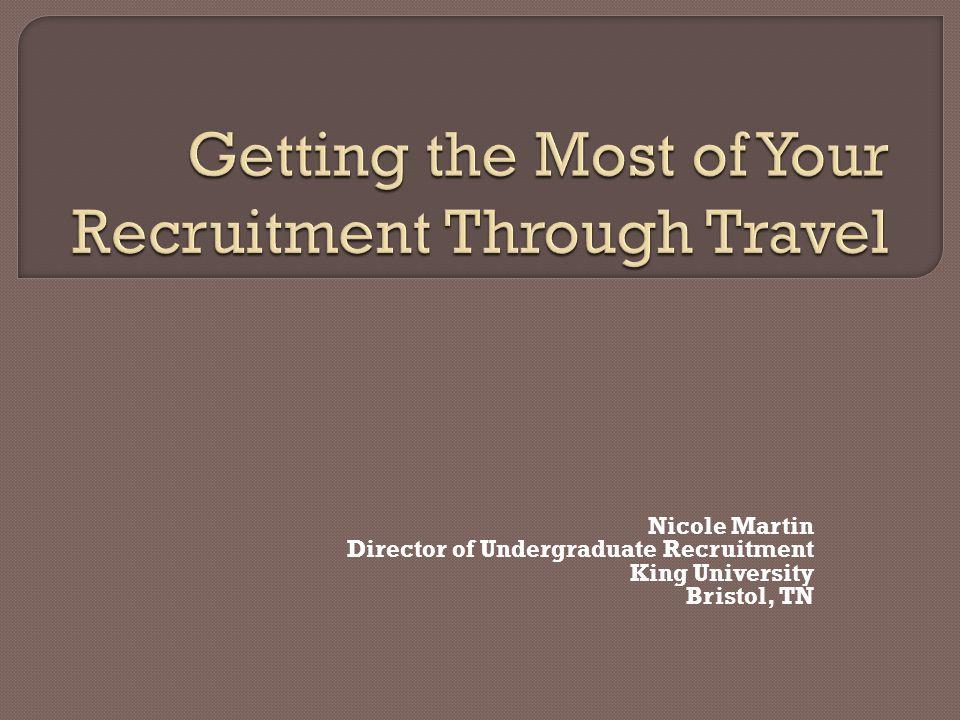 1 nicole martin director of undergraduate recruitment king university bristol tn