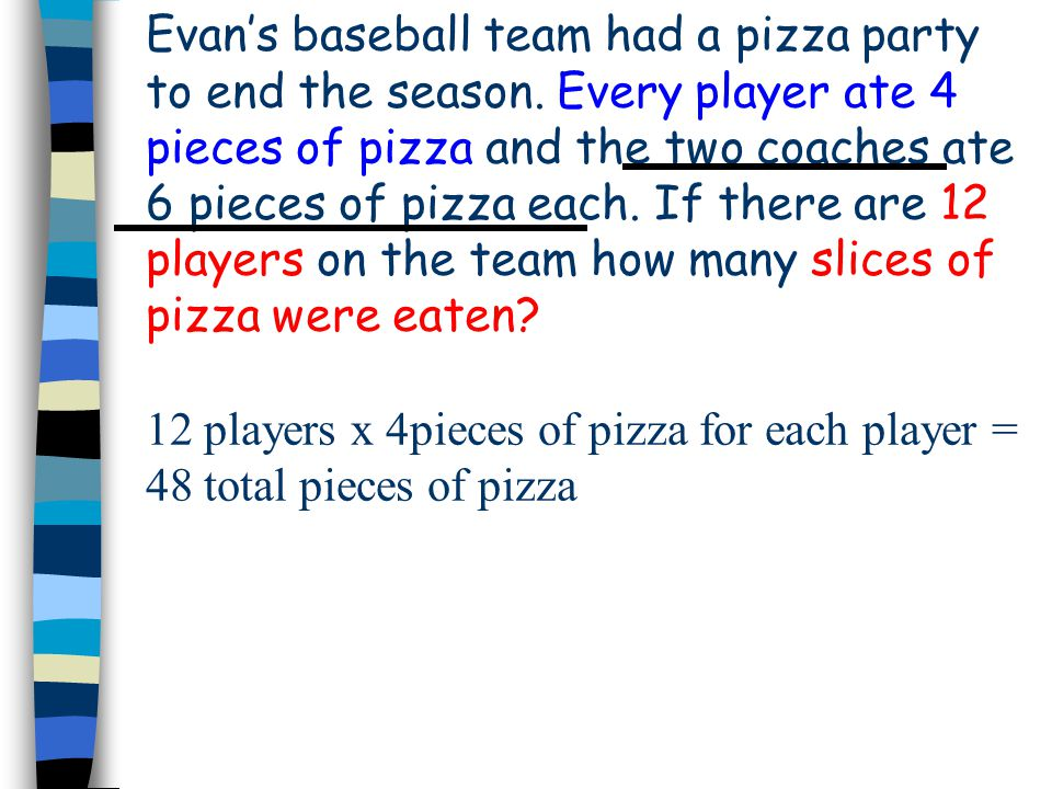 Evans baseball team had a pizza party to end the season.