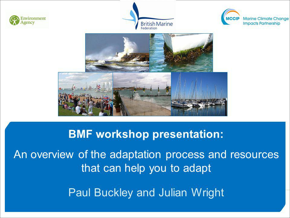 BMF workshop presentation: An overview of the adaptation process and resources that can help you to adapt Paul Buckley and Julian Wright
