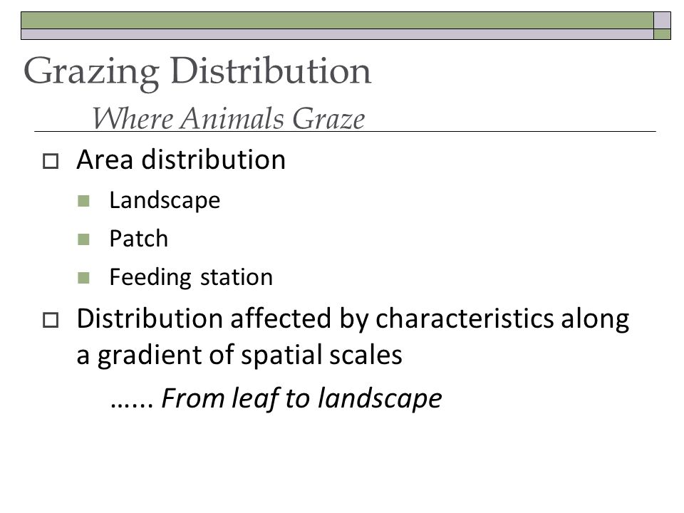 Area distribution Landscape Patch Feeding station Distribution affected by characteristics along a gradient of spatial scales …...