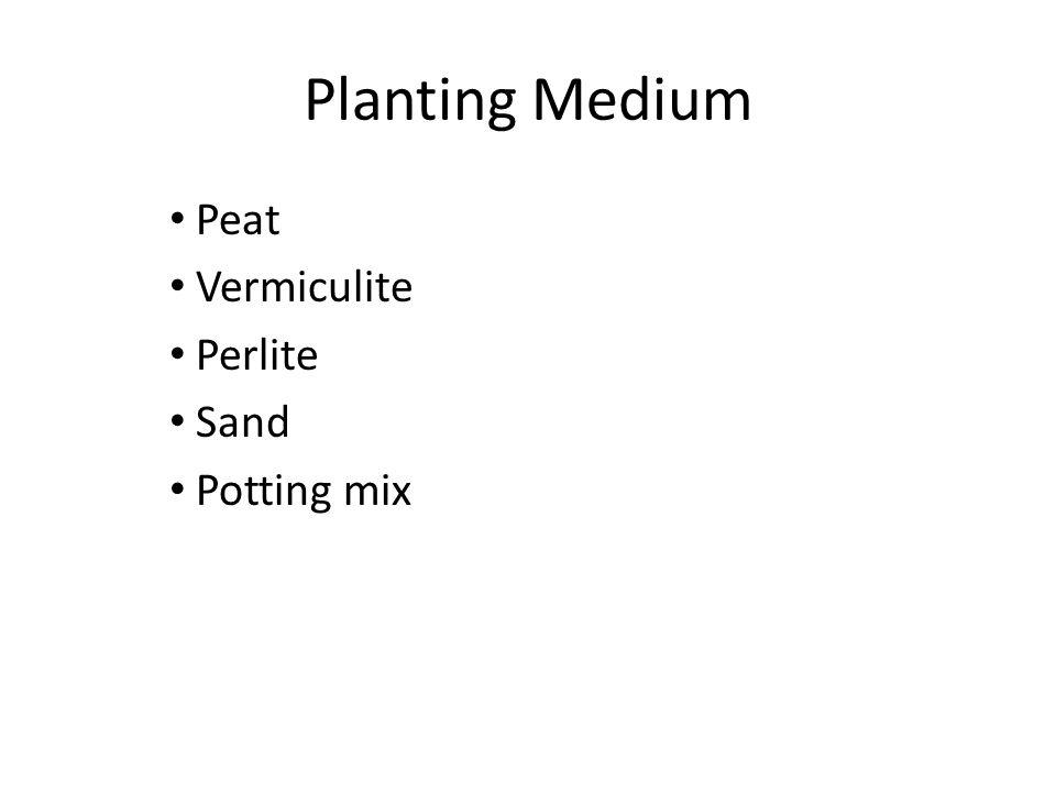 Planting Medium Peat Vermiculite Perlite Sand Potting mix