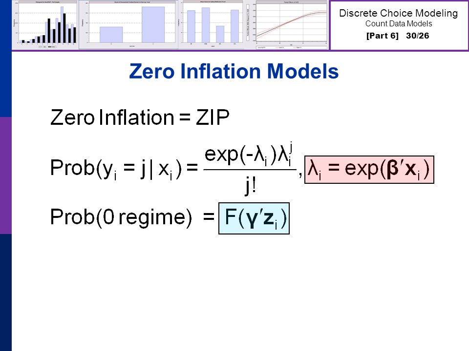 [Part 6] 30/26 Discrete Choice Modeling Count Data Models Zero Inflation Models