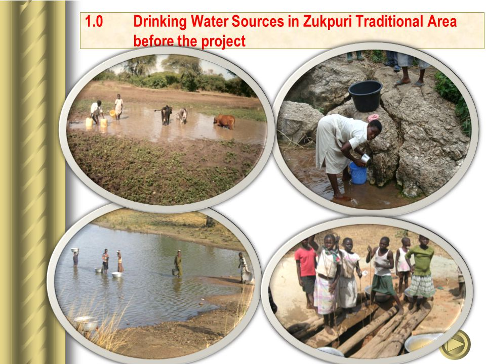 1.0Drinking Water Sources in Zukpuri Traditional Area before the project