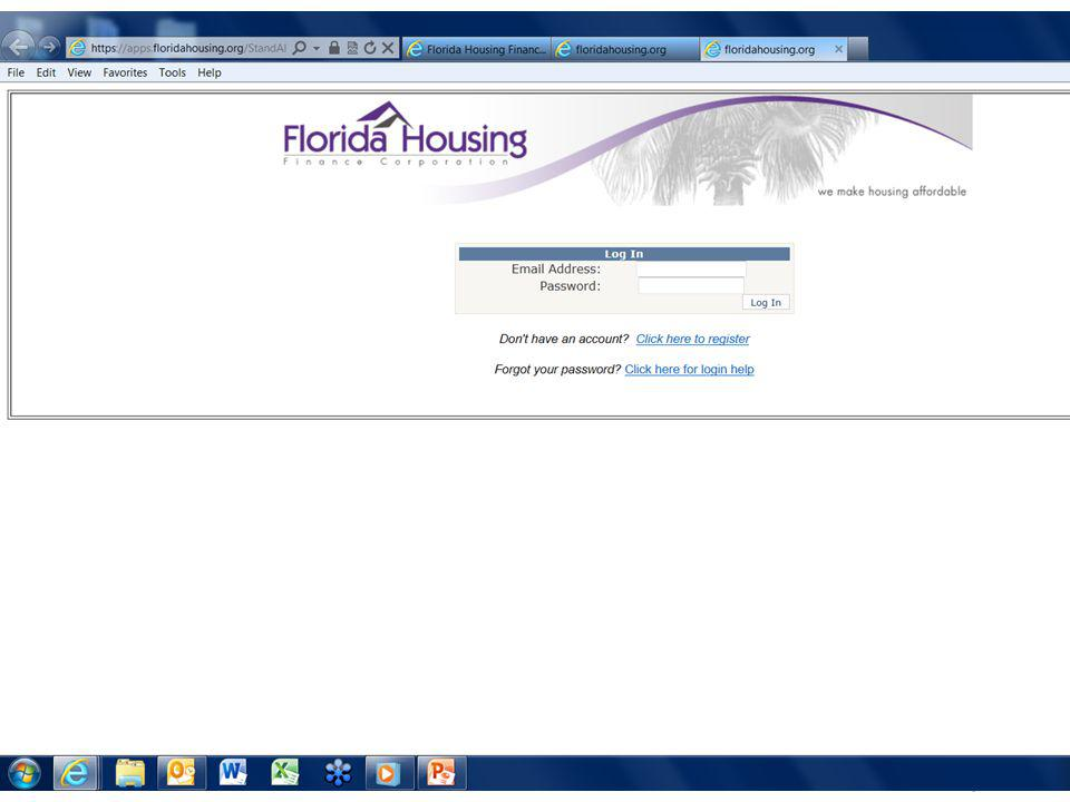 Registration After you have completed todays lender training, you may email the MCC team at MCCProgram@floridahousing.org Once you have received an email confirmation that you are in the system, you will come to this page and create your login profile.
