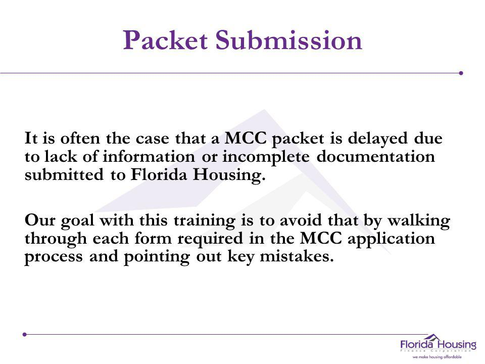 Packet Submissions and Document Requirements