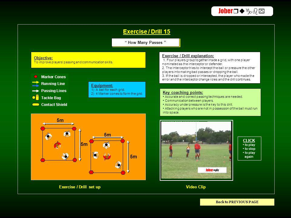 ACTIVITYTIMESKILLS DEMONSTRATION EXERCISE / DRILLOBJECTIVE Warm-up15min 1) THE SWITCH PASS DRILL 2) HOW MANY PASSES 1) To teach players the basic technique of the switch (scissors) pass 2) To improve players passing and running in space skills.