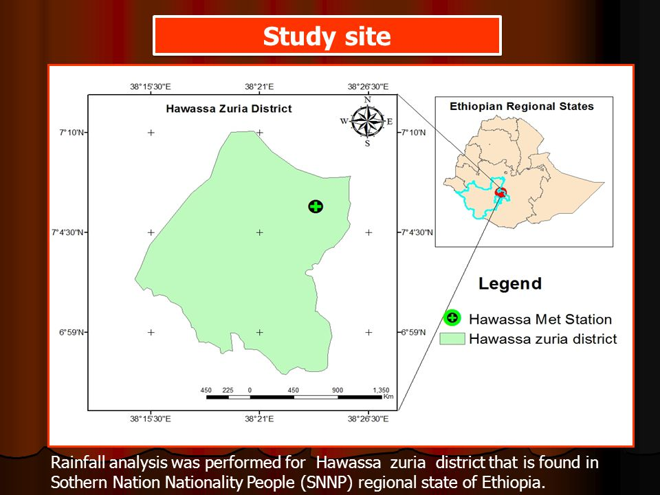 Study site Rainfall analysis was performed for Hawassa zuria district that is found in Sothern Nation Nationality People (SNNP) regional state of Ethiopia.