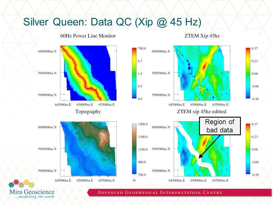 Silver Queen: Data QC (Xip @ 45 Hz) Region of bad data