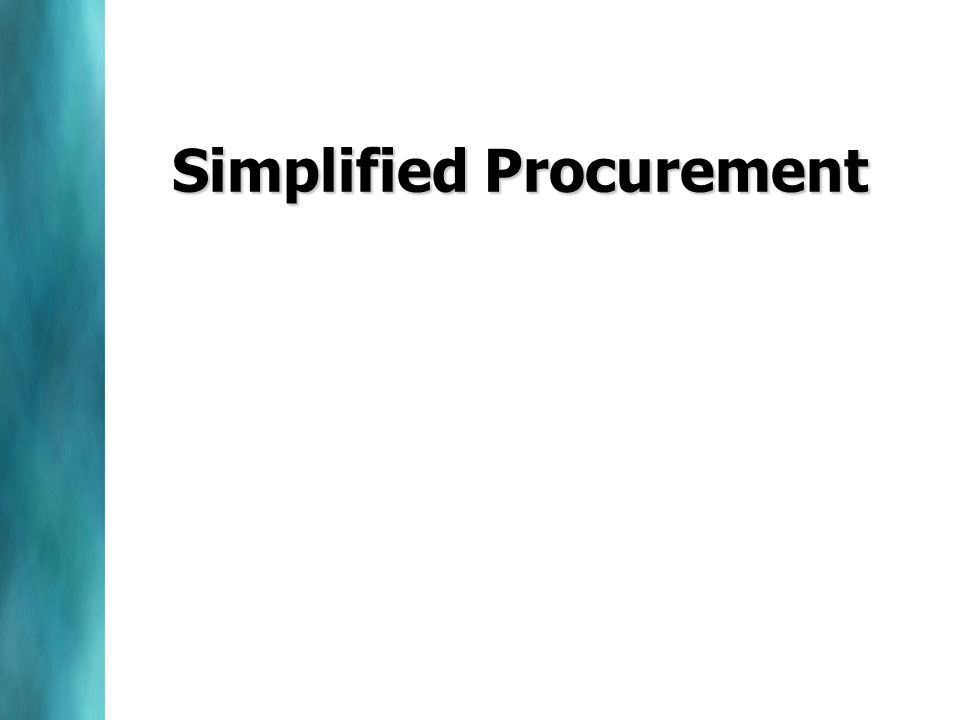 Simplified Procurement