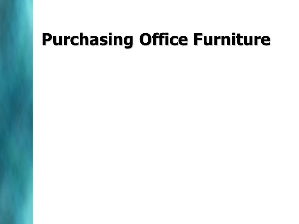 Purchasing Office Furniture