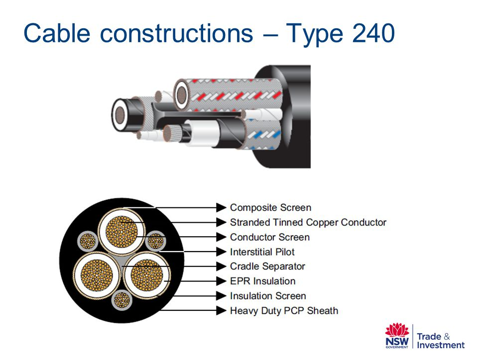 Cable constructions – Type 240