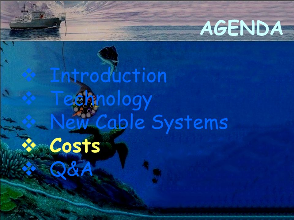 AGENDA v Introduction v Technology v New Cable Systems v Costs v Q&A