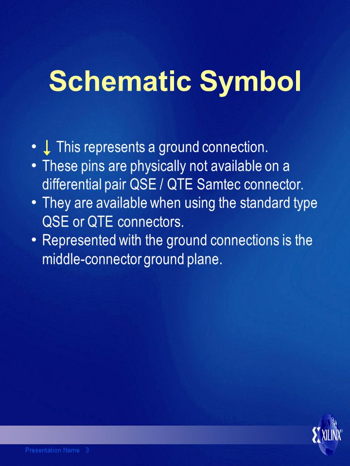 Presentation Name 3 Schematic Symbol This represents a ground connection.