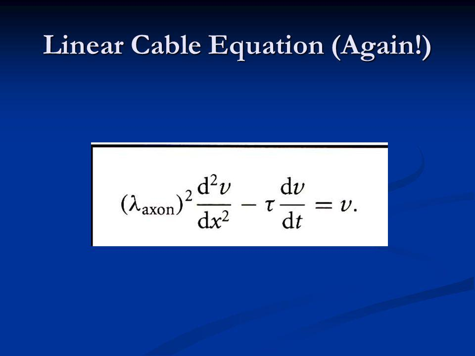 Linear Cable Equation (Again!) Linear Cable Equation (Again!)