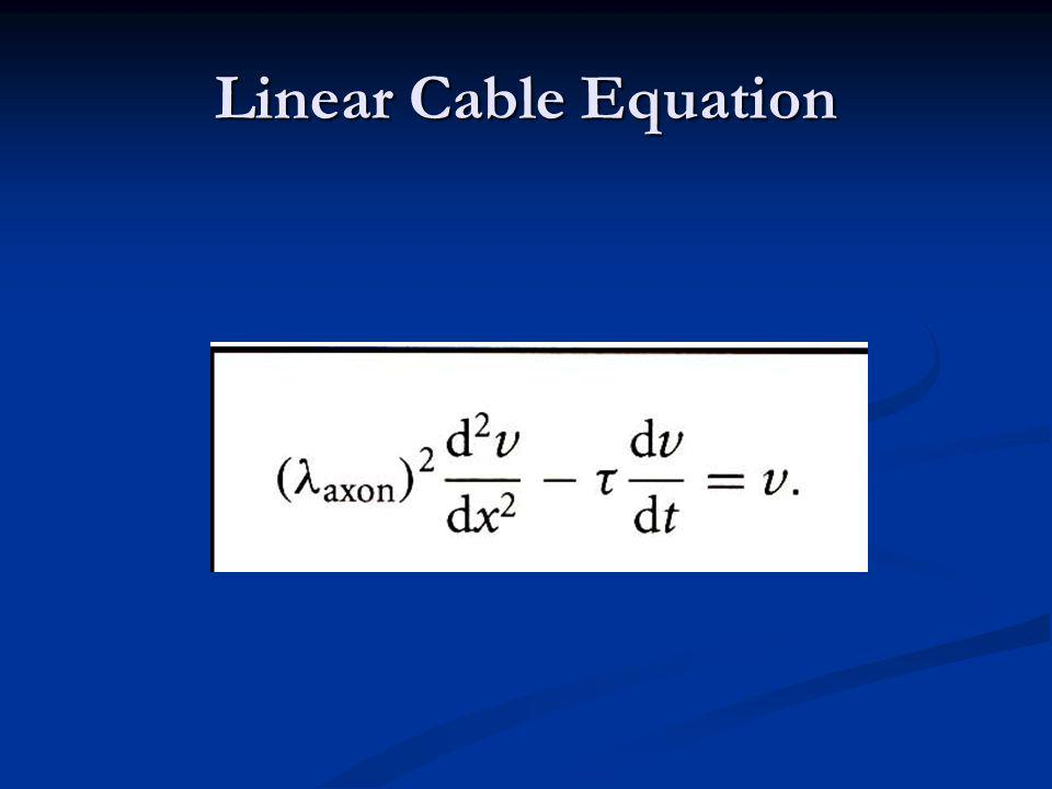 Linear Cable Equation
