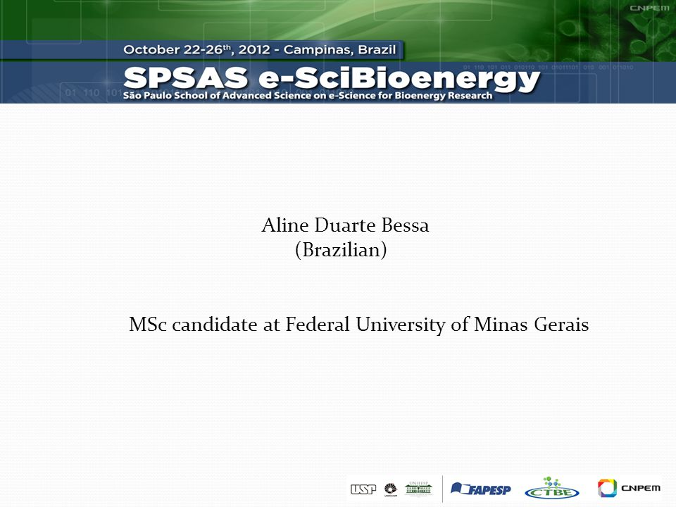 Aline Duarte Bessa (Brazilian) MSc candidate at Federal University of Minas Gerais