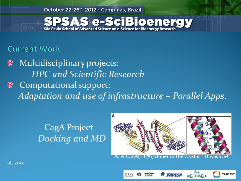 Multidisciplinary projects: HPC and Scientific Research Computational support: Adaptation and use of infrastructure – Parallel Apps.