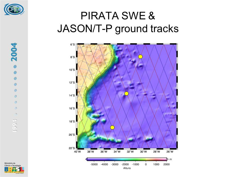 PIRATA SWE & JASON/T-P ground tracks