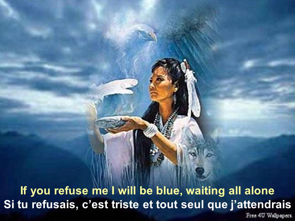 That means I offer my love to you to be your own Je toffrirais mon amour pour être tout à toi