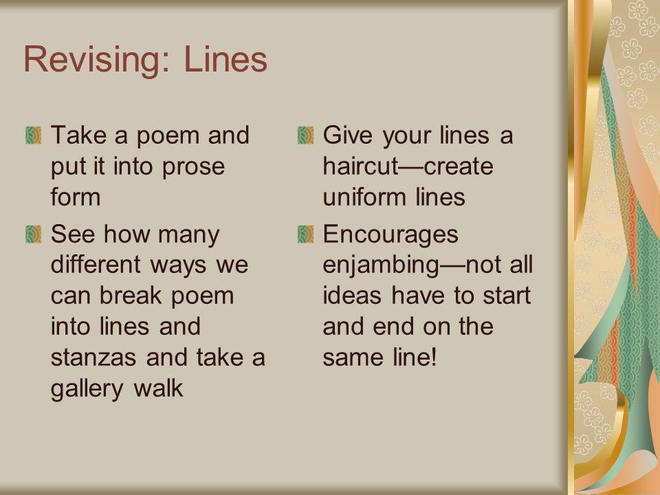ways to start a poem