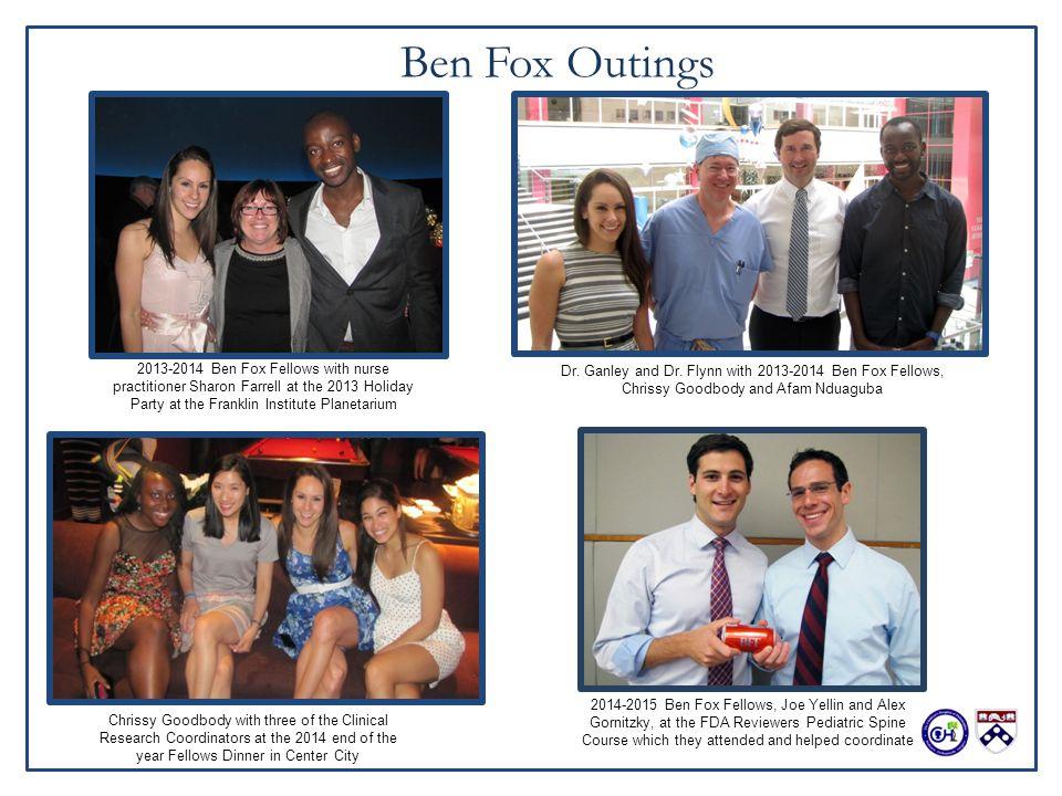 The Benjamin Fox Orthopedic Research Fellowship Division of
