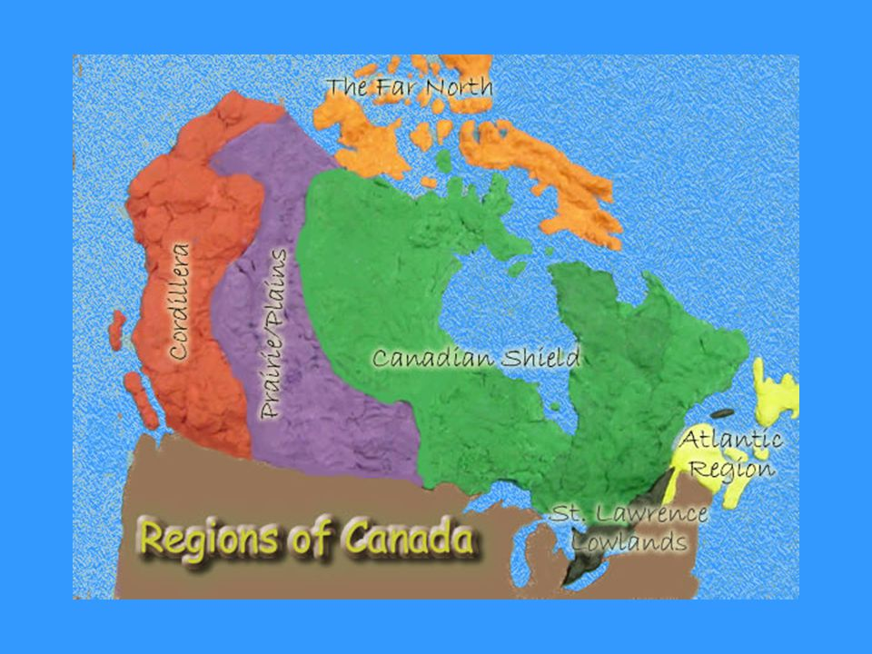 Physical Regions of Canada Think about a map of Canada. How is ...