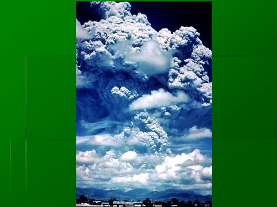 Volcanic Activity - Dust blocks solar radiation lowering global temperatures