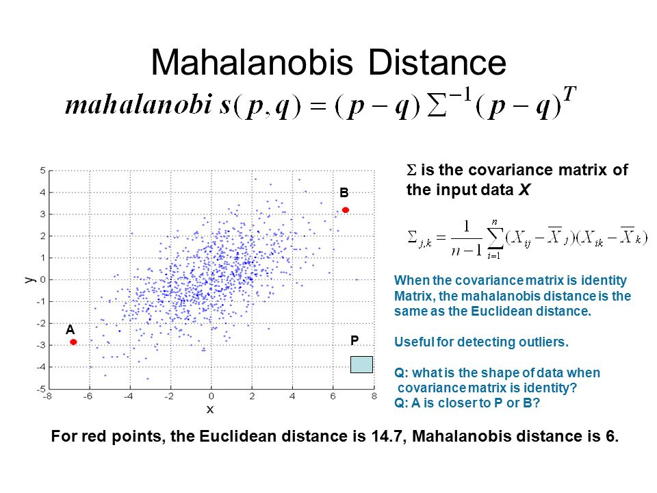Distance Measures Tan et al  From Chapter 2  Similarity and