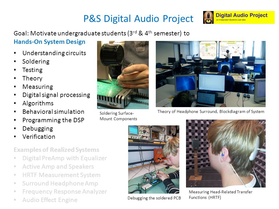 Examples of Realized Systems Digital PreAmp with Equalizer Active