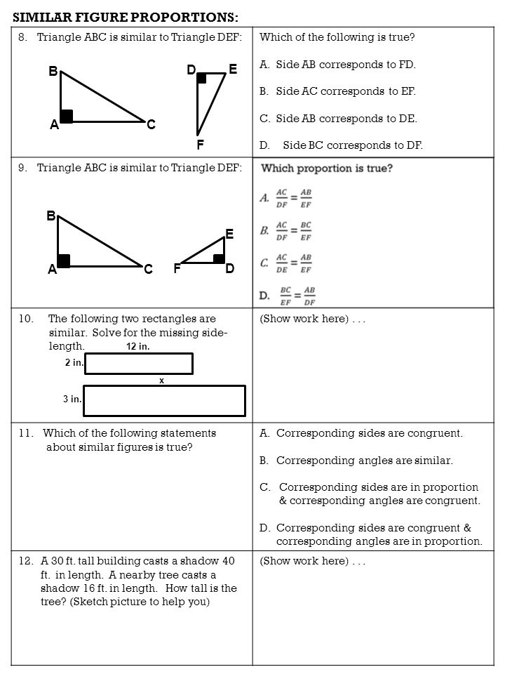 """Math-7 QUIZ """"Proportions"""" Fill-in-the-Blank: 1)A proportion can be ..."""