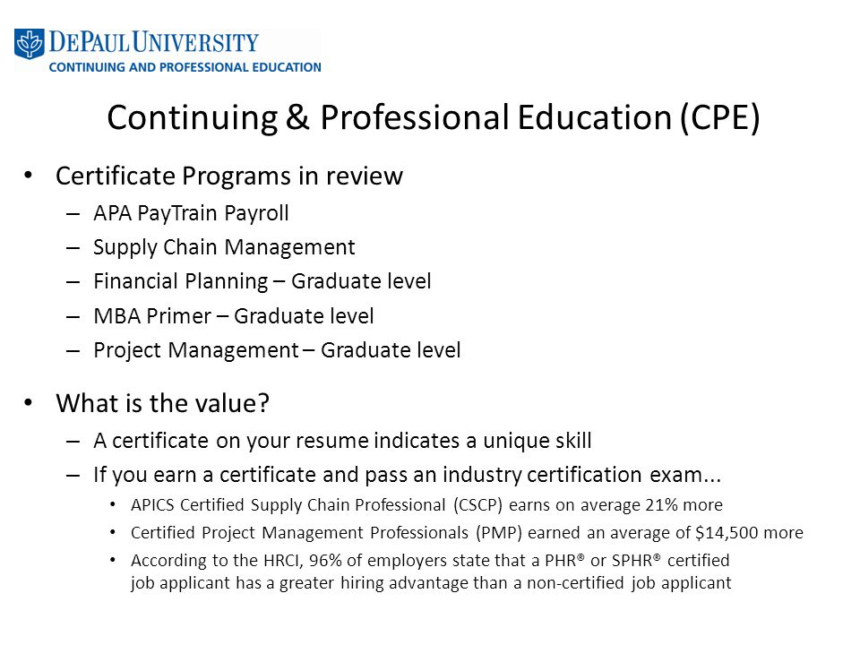 Enhancing Employability Through Professional Certification Ppt